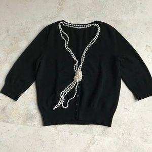 ANN TAYLOR Cashmere 3:4 Sleeve Cardigan Large